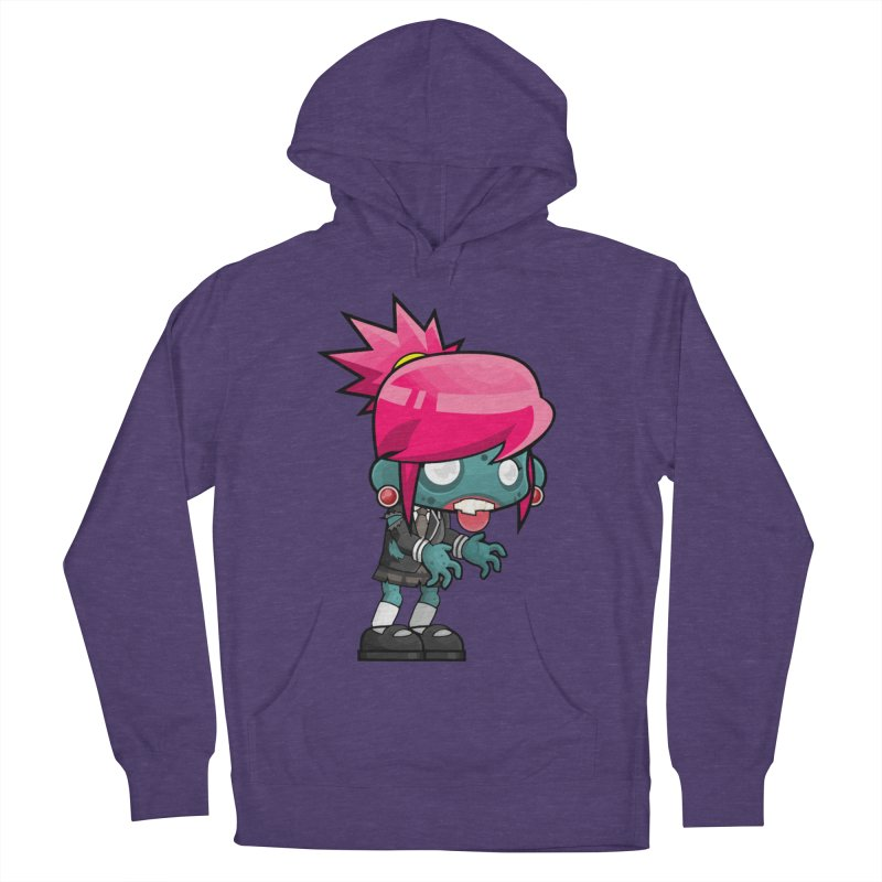 Zombie Girl Men's French Terry Pullover Hoody by Shirt For Brains