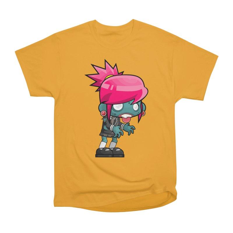Zombie Girl Women's Heavyweight Unisex T-Shirt by Shirt For Brains