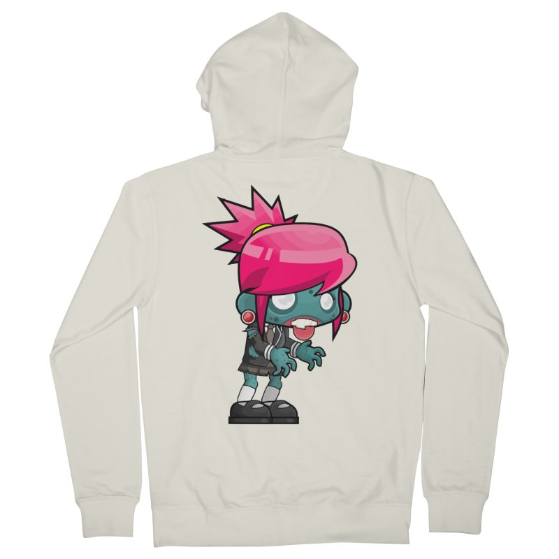 Zombie Girl Women's French Terry Zip-Up Hoody by Shirt For Brains