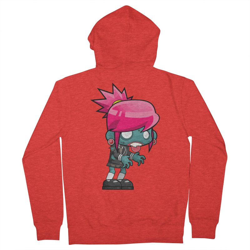 Zombie Girl Men's Zip-Up Hoody by Shirt For Brains