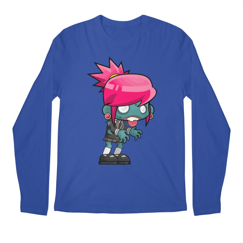 Zombie Girl Men's Regular Longsleeve T-Shirt by Shirt For Brains