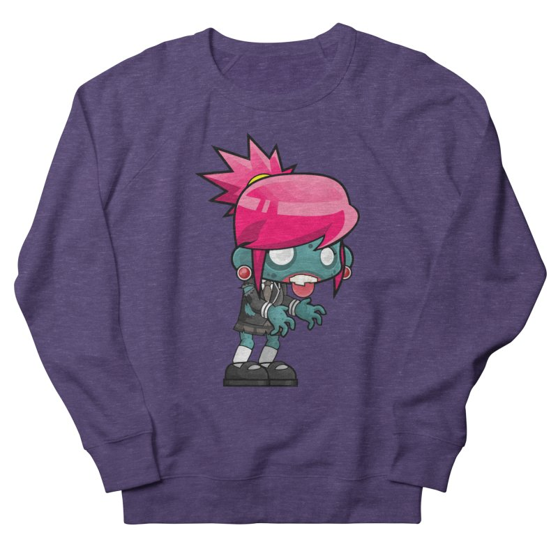 Zombie Girl Women's French Terry Sweatshirt by Shirt For Brains