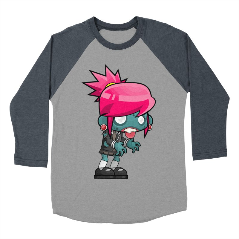 Zombie Girl Women's Baseball Triblend Longsleeve T-Shirt by Shirt For Brains