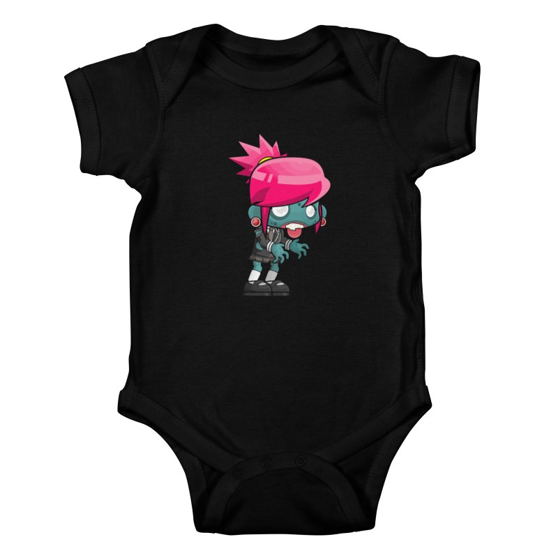 Zombie Girl Kids Baby Bodysuit by Shirt For Brains