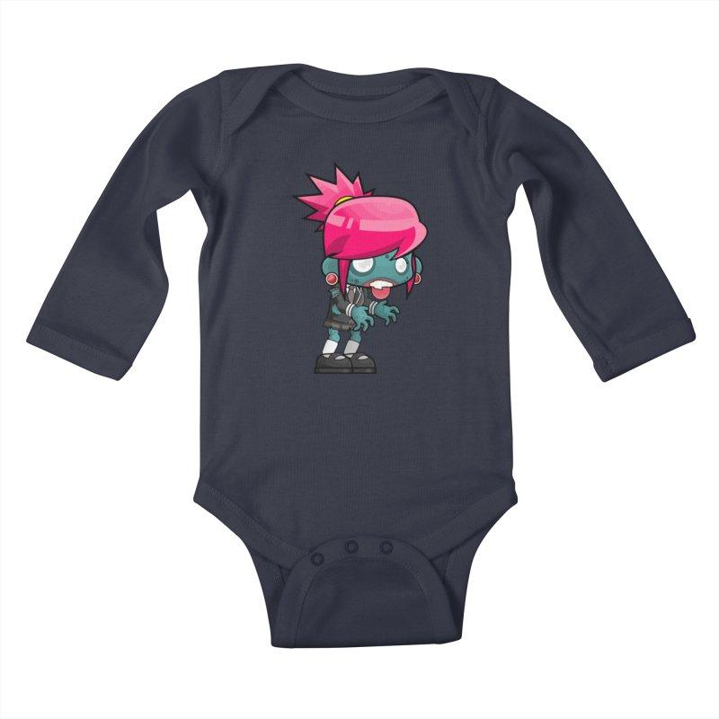 Zombie Girl Kids Baby Longsleeve Bodysuit by Shirt For Brains