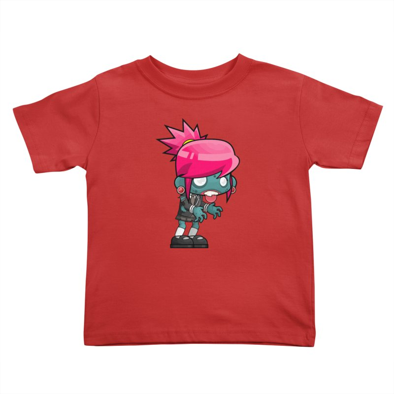 Zombie Girl Kids Toddler T-Shirt by Shirt For Brains