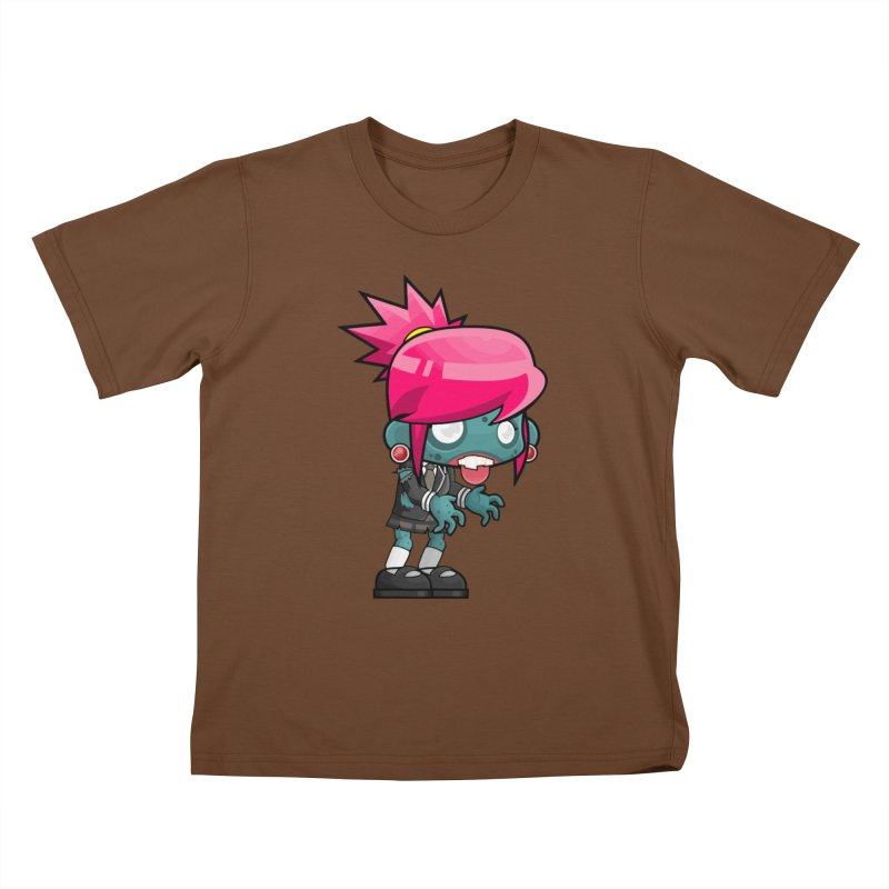 Zombie Girl Kids T-Shirt by Shirt For Brains