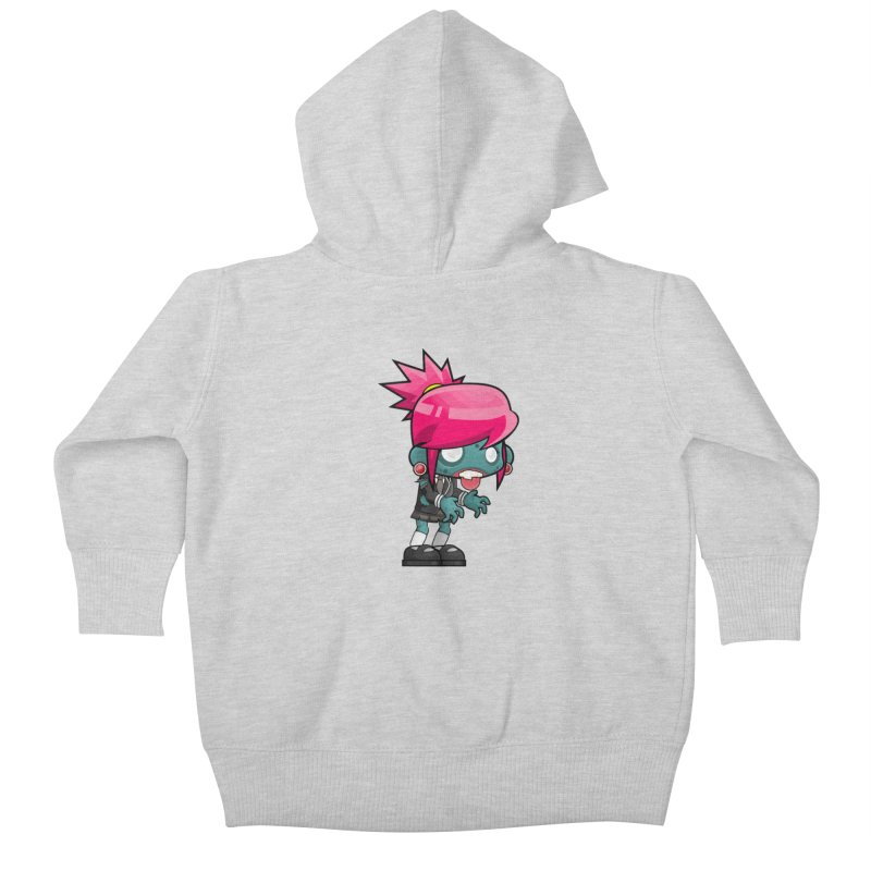 Zombie Girl Kids Baby Zip-Up Hoody by Shirt For Brains
