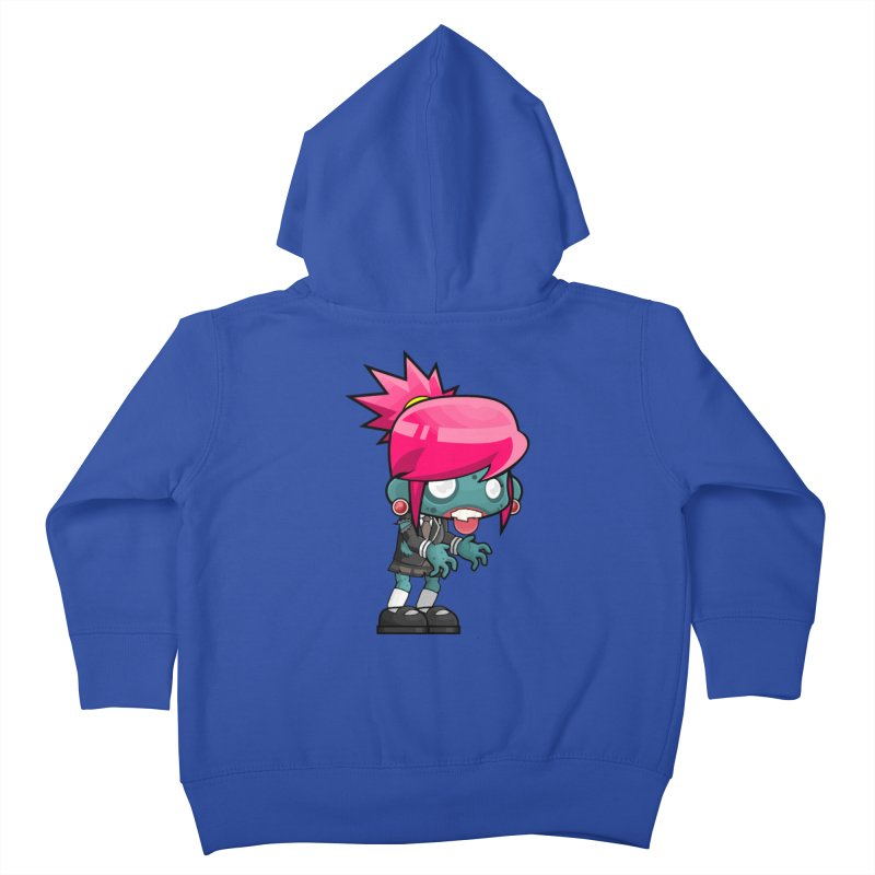 Zombie Girl Kids Toddler Zip-Up Hoody by Shirt For Brains