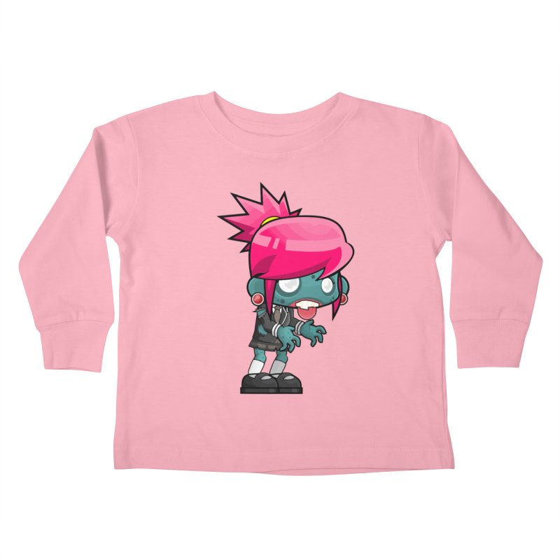 Zombie Girl Kids Toddler Longsleeve T-Shirt by Shirt For Brains