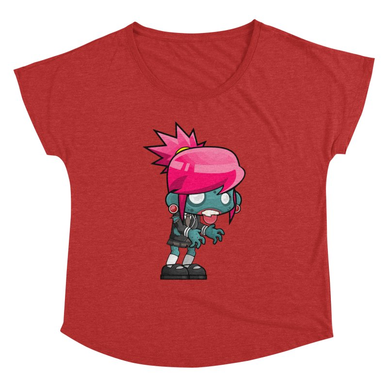 Zombie Girl Women's Dolman Scoop Neck by Shirt For Brains