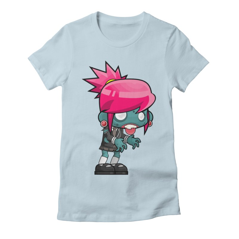 Zombie Girl Women's T-Shirt by Shirt For Brains