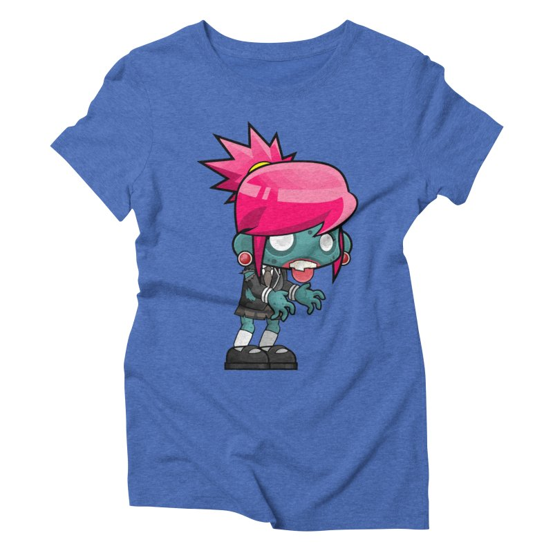 Zombie Girl Women's Triblend T-Shirt by Shirt For Brains