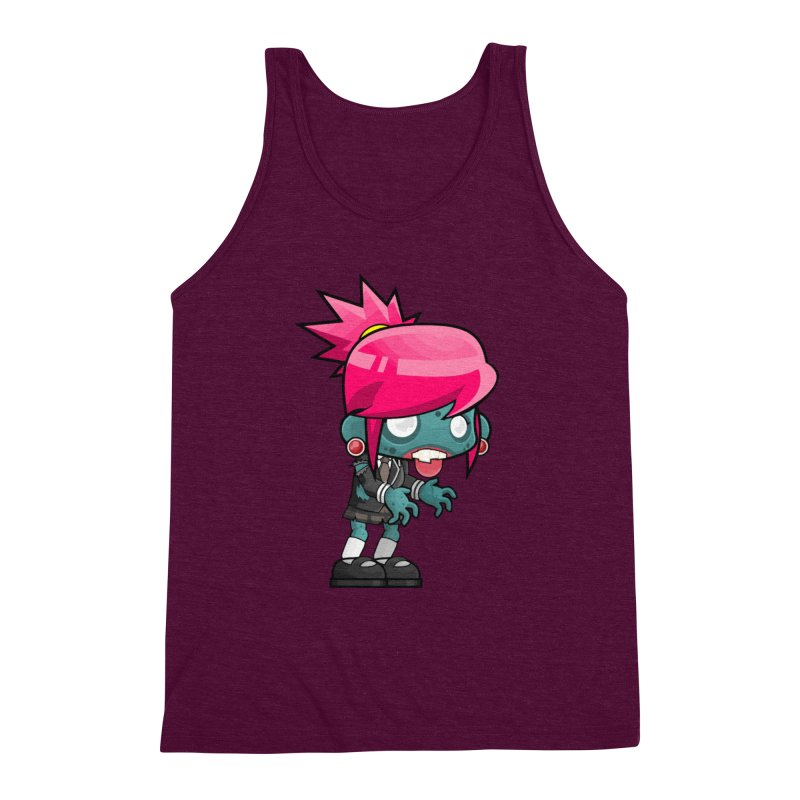 Zombie Girl Men's Triblend Tank by Shirt For Brains