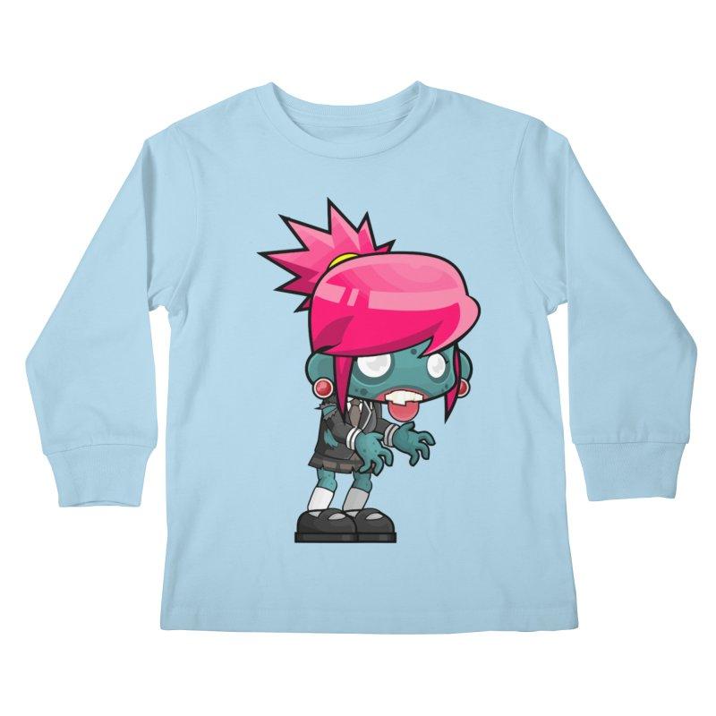 Zombie Girl Kids Longsleeve T-Shirt by Shirt For Brains