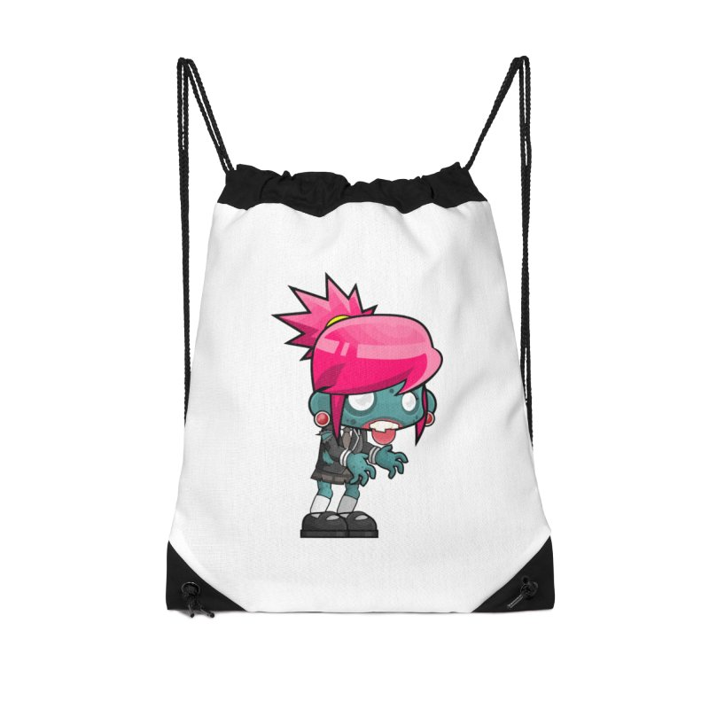 Zombie Girl Accessories Drawstring Bag Bag by Shirt For Brains