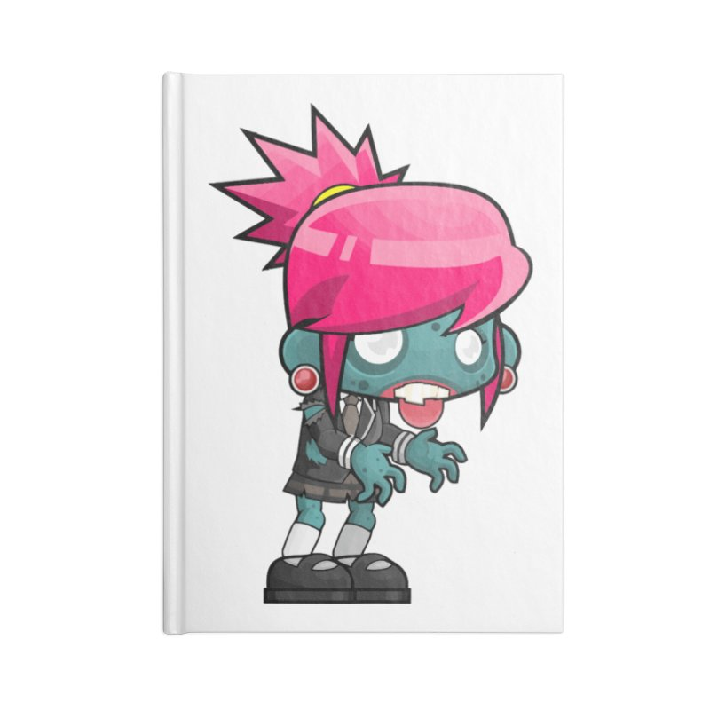 Zombie Girl Accessories Lined Journal Notebook by Shirt For Brains