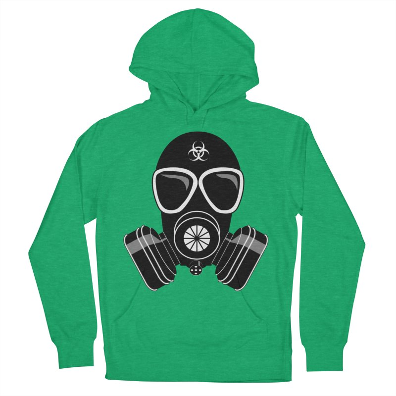 Gas Mask Men's French Terry Pullover Hoody by Shirt For Brains
