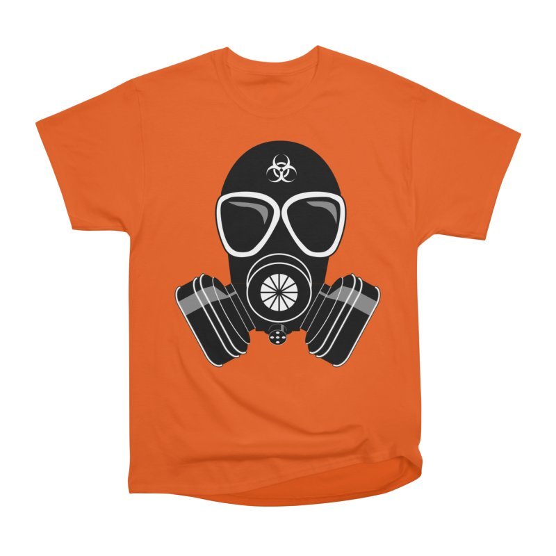 Gas Mask Men's Heavyweight T-Shirt by Shirt For Brains