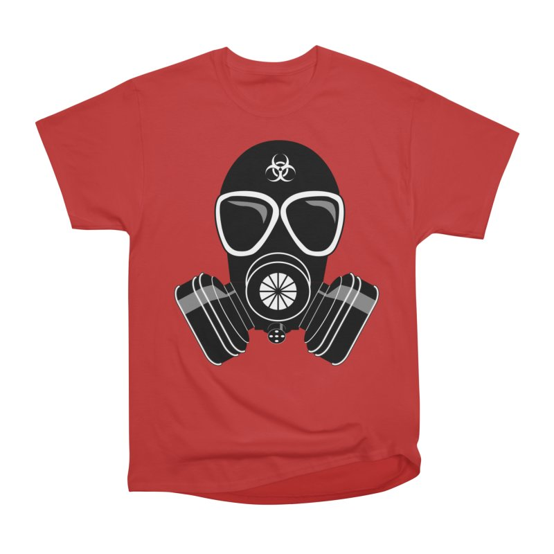 Gas Mask Women's Heavyweight Unisex T-Shirt by Shirt For Brains