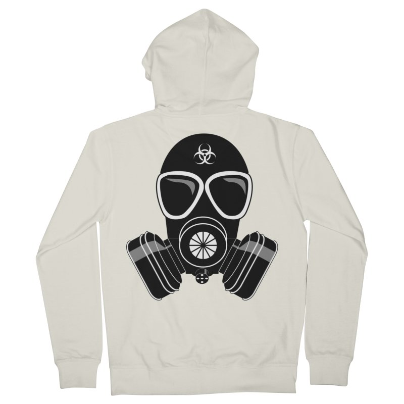 Gas Mask Women's Zip-Up Hoody by Shirt For Brains