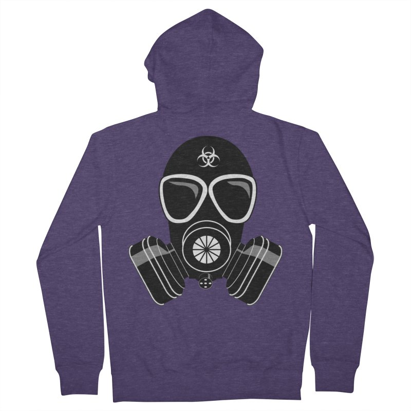Gas Mask Men's Zip-Up Hoody by Shirt For Brains