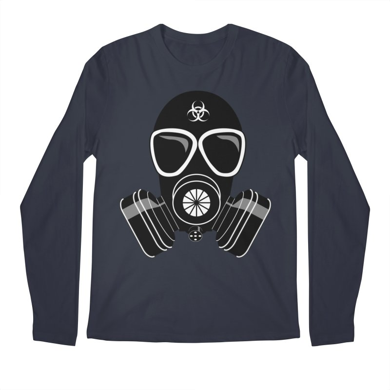 Gas Mask Men's Regular Longsleeve T-Shirt by Shirt For Brains