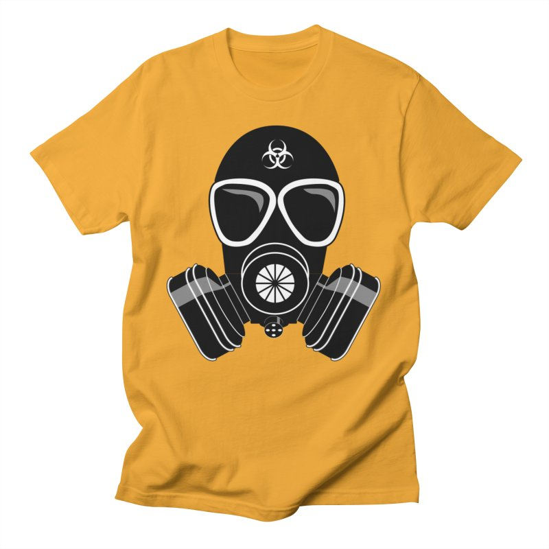 Gas Mask Men's T-Shirt by Shirt For Brains