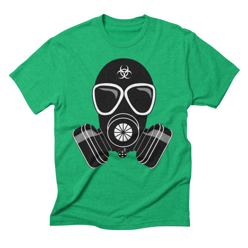 Gas Mask Men's Triblend T-Shirt by Shirt For Brains