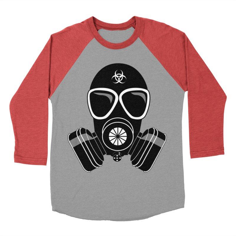 Gas Mask Women's Baseball Triblend Longsleeve T-Shirt by Shirt For Brains