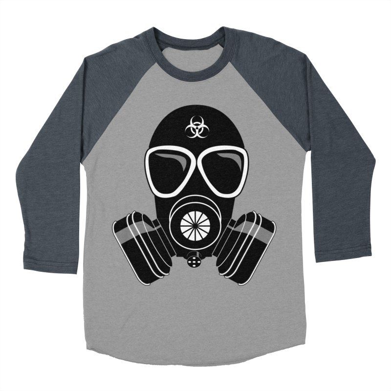 Gas Mask Women's Baseball Triblend Longsleeve T-Shirt by Shirt For Brains