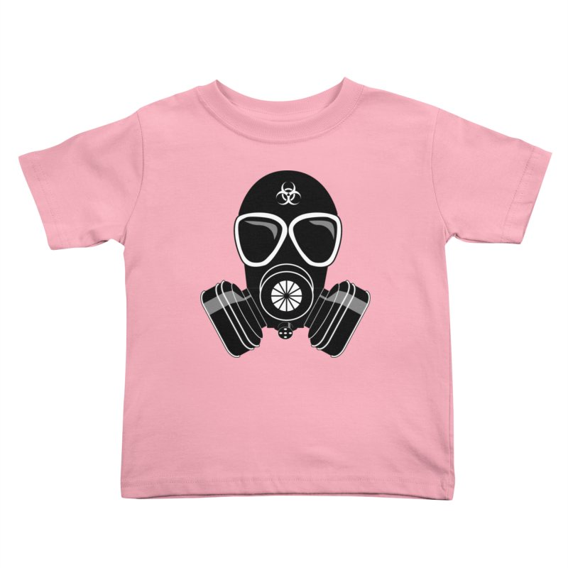 Gas Mask Kids Toddler T-Shirt by Shirt For Brains