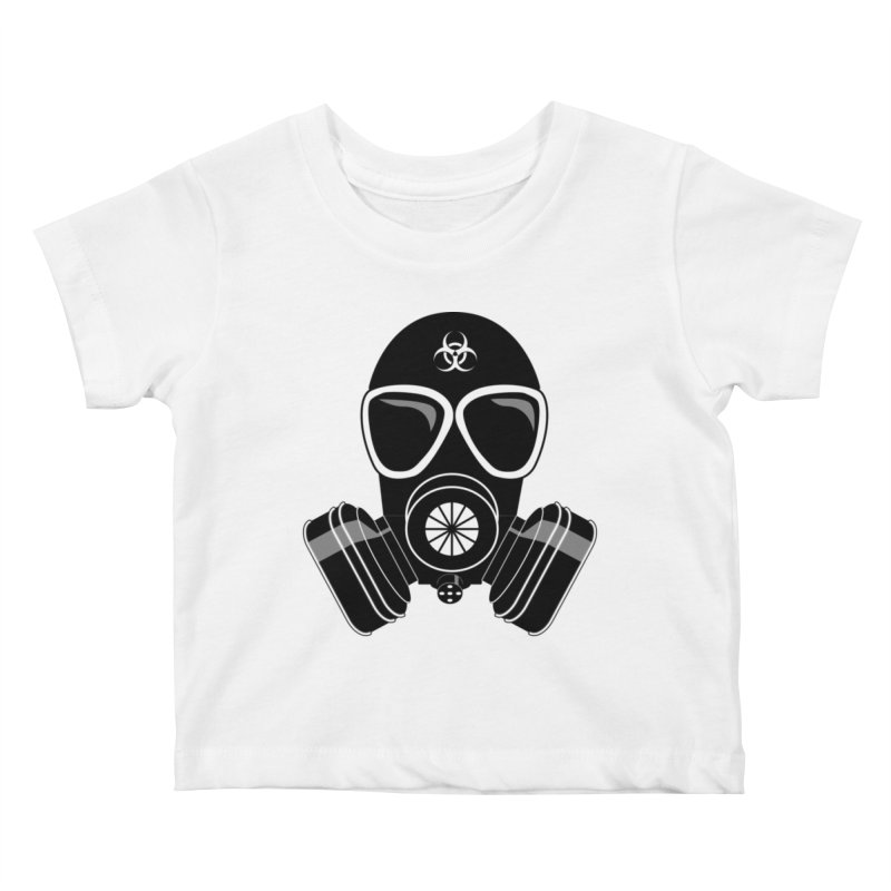 Gas Mask Kids Baby T-Shirt by Shirt For Brains