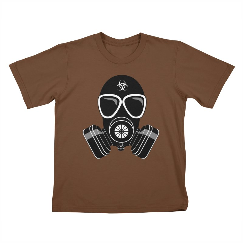 Gas Mask Kids T-Shirt by Shirt For Brains