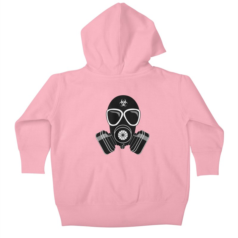 Gas Mask Kids Baby Zip-Up Hoody by Shirt For Brains