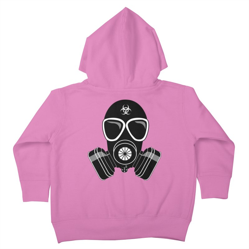 Gas Mask Kids Toddler Zip-Up Hoody by Shirt For Brains