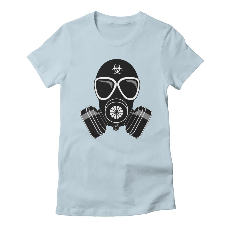 Gas Mask Women's T-Shirt by Shirt For Brains