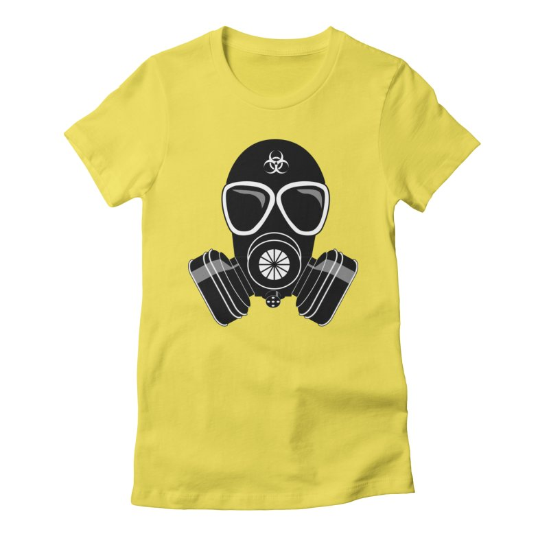 Gas Mask Women's Fitted T-Shirt by Shirt For Brains
