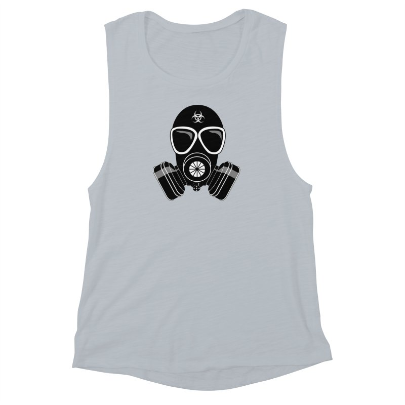 Gas Mask Women's Muscle Tank by Shirt For Brains