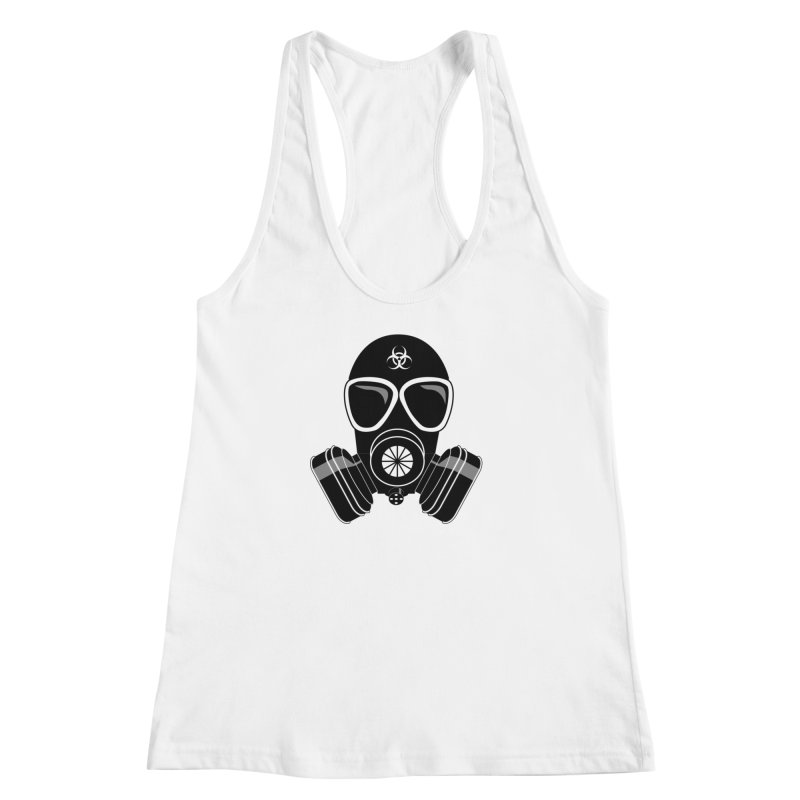 Gas Mask Women's Racerback Tank by Shirt For Brains