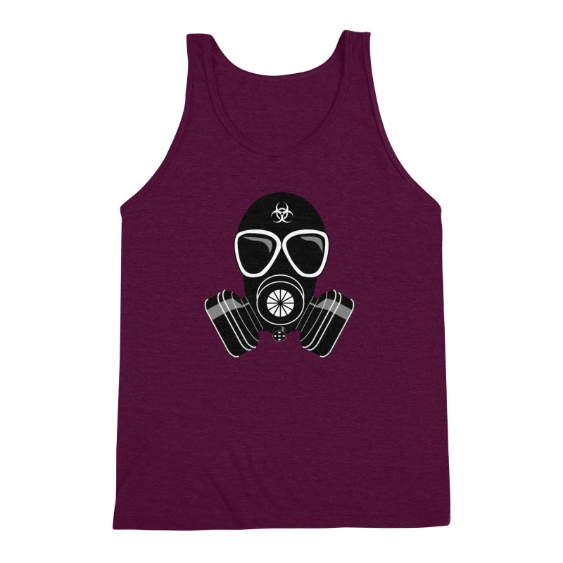 Gas Mask Men's Triblend Tank by Shirt For Brains