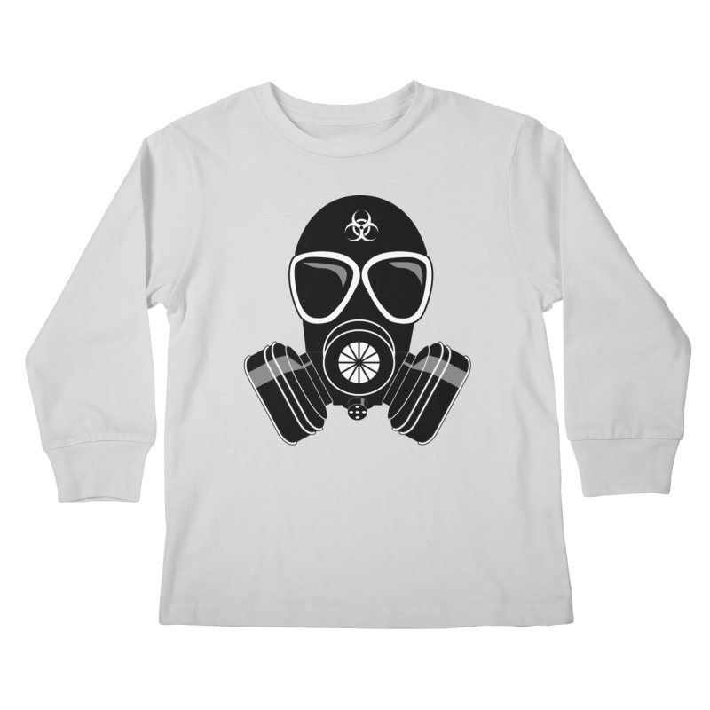 Gas Mask Kids Longsleeve T-Shirt by Shirt For Brains