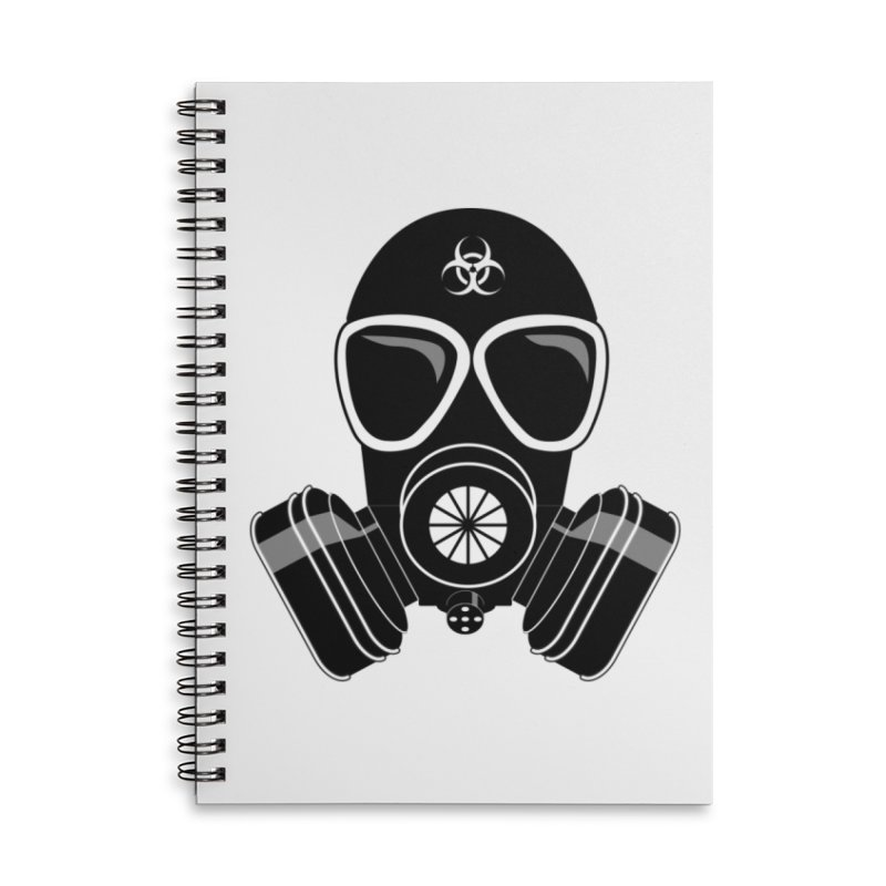 Gas Mask Accessories Notebook by Shirt For Brains