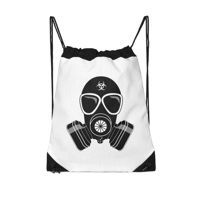 Gas Mask Accessories Drawstring Bag Bag by Shirt For Brains