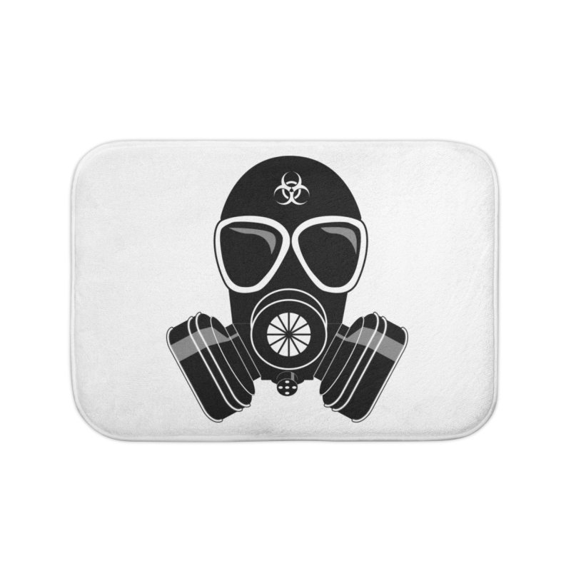 Gas Mask Home Bath Mat by Shirt For Brains