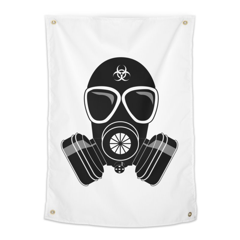 Gas Mask Home Tapestry by Shirt For Brains
