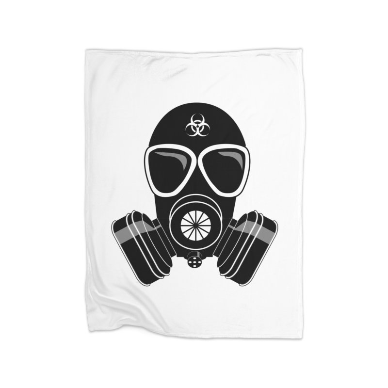 Gas Mask Home Fleece Blanket Blanket by Shirt For Brains