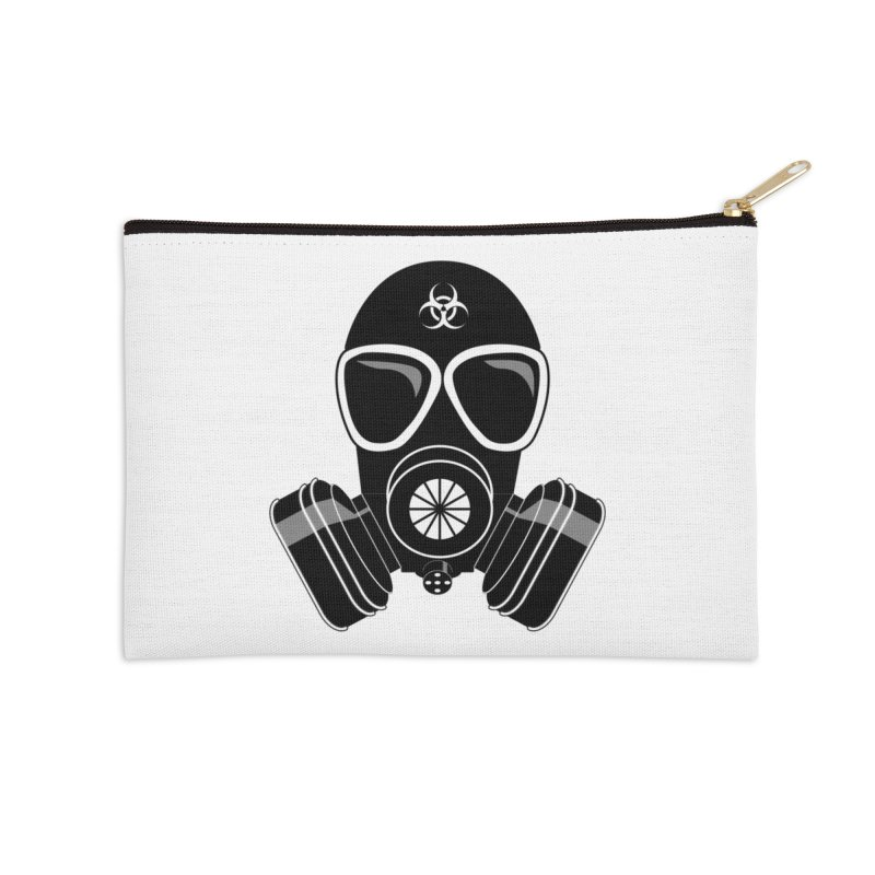 Gas Mask Accessories Zip Pouch by Shirt For Brains