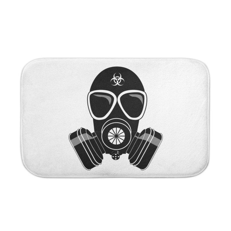 Gas Mask Home Bath Mat by Shirt For Brains