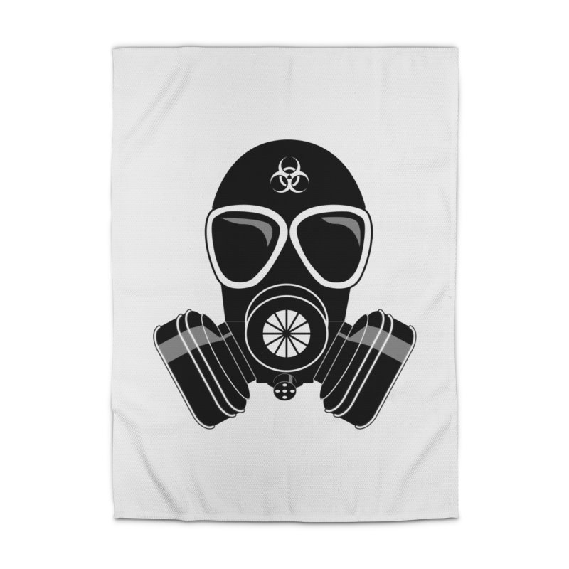Gas Mask Home Rug by Shirt For Brains